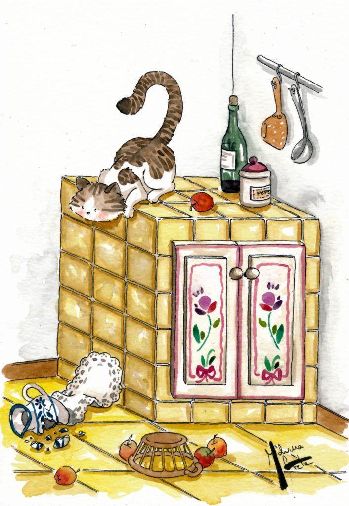la gattina dispettosa