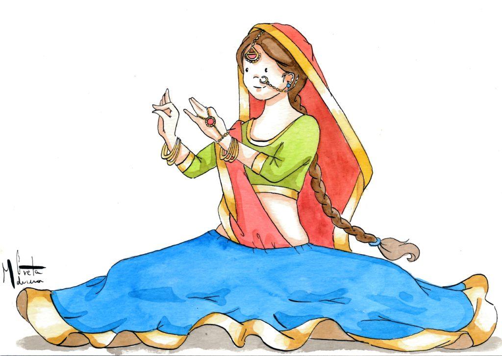 La danzatrice indiana
